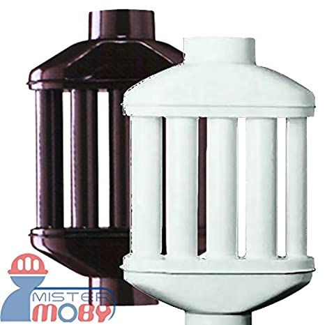 Mistermoby Intercambiador de Calor a 8 Tubos Redondos Tubo Difusor y Recuperación de Calor Para Estufa de 10 cm de Diámetro, Color Marrón: Amazon.es: Hogar