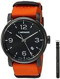 Wenger Men's 'Urban Metropolitan' Swiss Quartz Stainless Steel and Nylon Casual Watch, Color:Orange (Model: 01.1041.131)