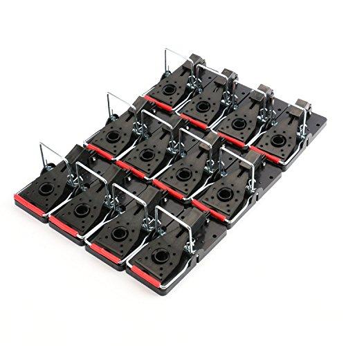 Tosnail Snap-E Mouse Traps Quick Rat Traps - Value Pack of 12