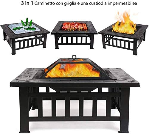 Tavolo Da Giardino Con Barbecue.Femor Braciere Da Esterno In Acciaio Inox Braciere Da Giardino