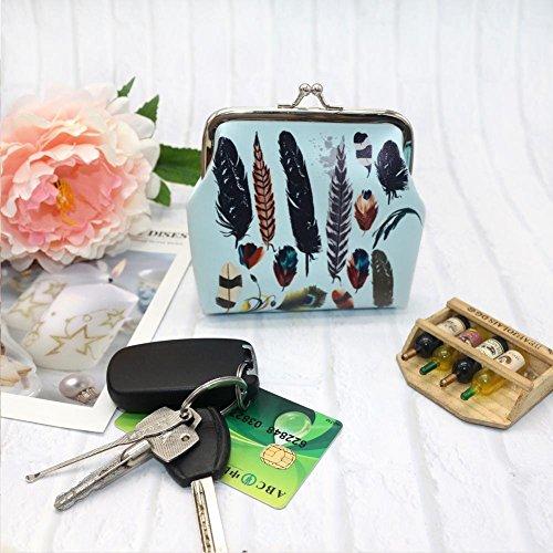 Mode Tirette Monnaie Femmes Key Toile Porte Portefeuille Sac en B Écouteur Package Sac Sac Simple Coin Portefeuille La Mode Carte À Cuir rXxq5xS