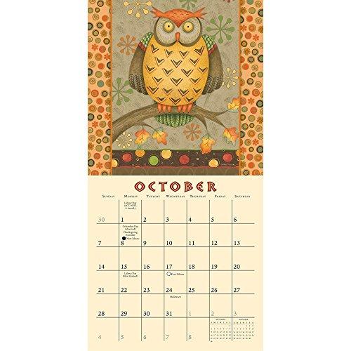 Hootenanny Owls by Debbie Mumm 2018 Small Wall Calendar Photo #3