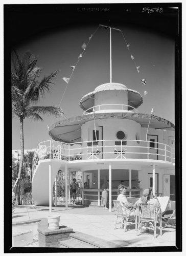 Photo: Raleigh Hotel,Collins Ave.,Miami Beach,Florida. Snack bar - Ave Collin Beach Miami