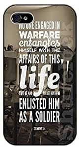 iPhone 5C Bible Verse - No one engaged in warfare entangles himself with the affairs of his life. 2 Timothy 2:4 - black plastic case / Verses, Inspirational and Motivational