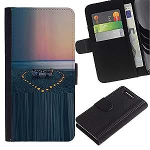 iKiki Tech / Cartera Funda Carcasa - Beach Evening Sunset Sea - Sony Xperia Z1 Compact D5503