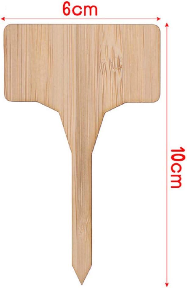 Allinlove 50 St/ück Mini T-Typ Tag Marker Pflanzschilder Bambus Baum T-Form Pflanzenstecker Beschriften Stecketiketten Gartenschilder Kr/äuterschilder Pflanzen Etiketten Pflanzenschilder