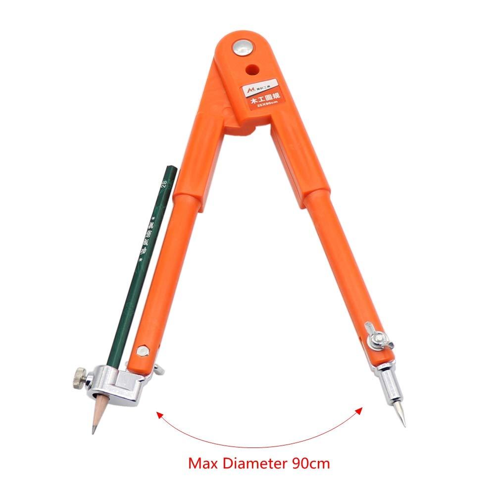25/* 90/cm Precision Pencil Compass per falegnameria marcatura e marcatura bussole