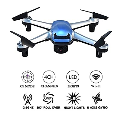 FPV RC Drone with HD Wifi Camera 2.4GHz 6Chanel 6 Axis Gyro RTF RC Quadcopter with Altitude hold Mode,Gravity Sensor and Headless Mode RC Helicopter by New Boss