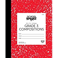 School Smart Skip-A-Line Ruled Composition Book, Grade 3, Red, 48 Pages
