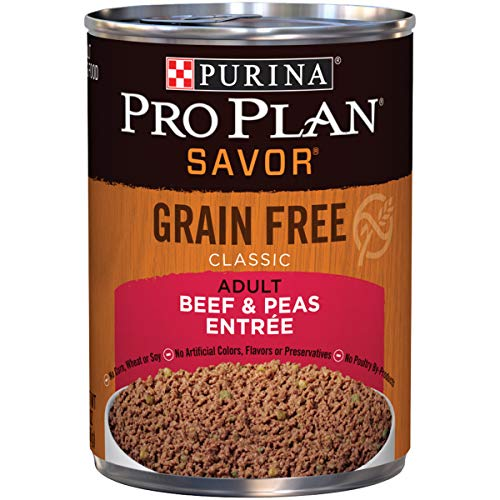 (Purina Pro Plan Grain Free Pate Wet Dog Food; SAVOR Grain Free Beef & Peas Entree  - (12) 13 oz. Cans)