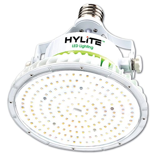 (HyLite LED Lighting HL-LS-100W-E39-50K 100 W Lotus Lamp, 400 W Equivalent, 5000K, 14000 Lumens, Ballast Bypass AC Direct Wiring 120-277V, Mogul (EX39) Base, Hid Retrofit, IP 65, UL and CE Certified, Dlc Listed)