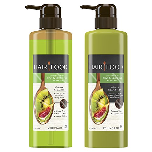Hair Food Volume Shampoo & Conditioner Set Infused With Kiwi Fragrance, 17.9 fl oz ()