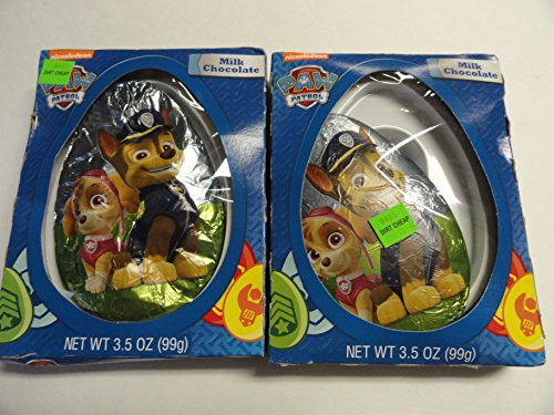 Paw Patrol Milk Chocolate Egg - You get Two - Paws Milk Chocolate