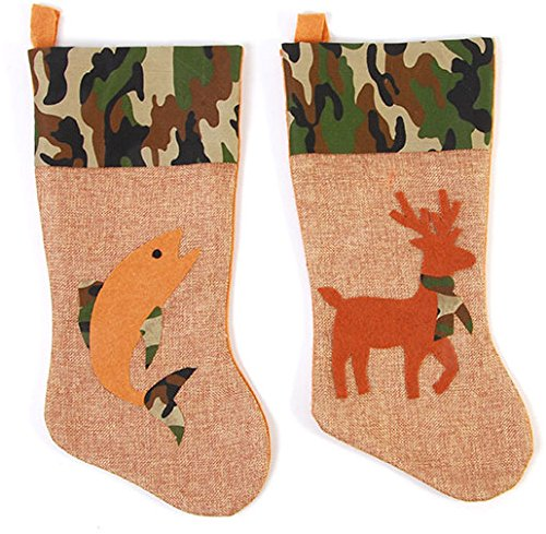 DDI 2127630 Printed Burlap Stocking with Camouflage Fish & Gam - Case of 36