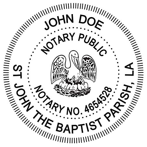 Round Notary Pre-inked Stamp for State of Louisiana- Customized in one day with (Stamps Pre Round Inked)