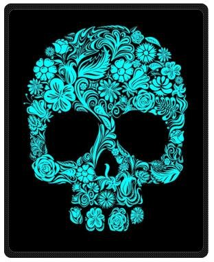 Beautiful Design Dia De Los Muertos Suger Skull and Flower Fleece Throws,Travel Blankets 40