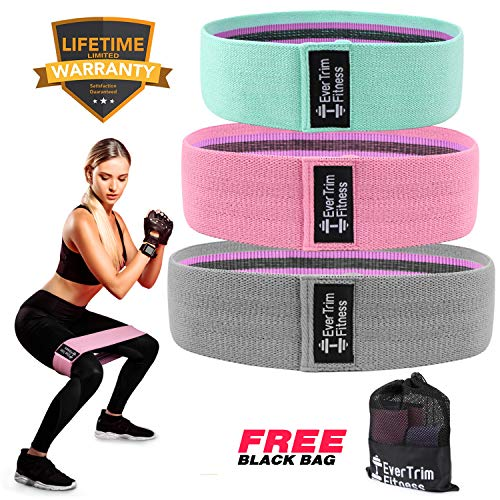 Resistance Bands for Legs and Butt, Exercise Bands Booty Bands Hip Bands Wide Workout Bands Sports-Fitness Bands Stretch Resistance Loops Band Anti Slip Elastic (Life-time Warranty)