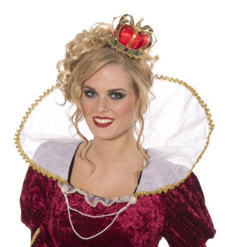 70181 Mini Queen Crown Mardi (Queen Of Hearts Costume Hair)