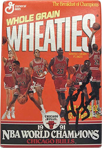 Horace Grant Signed Autographed 1991 Mini Wheaties Box JSA