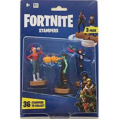 FORTNITE FRT02 Blister Pack of 3 Character Stamps - Random Models, Multi-Coloured: Toys & Games