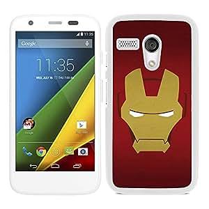 Funda carcasa para Motorola G diseño cara Ironman superhéroe borde blanco
