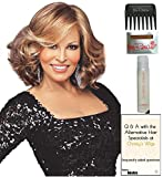 Celebrity Wig by Raquel Welch, 15 Page Christy's Wigs Q & A Booklet, 2oz Travel Size Wig Shampoo, Wig Cap & Wide Tooth Comb COLOR SELECTED: R29S+