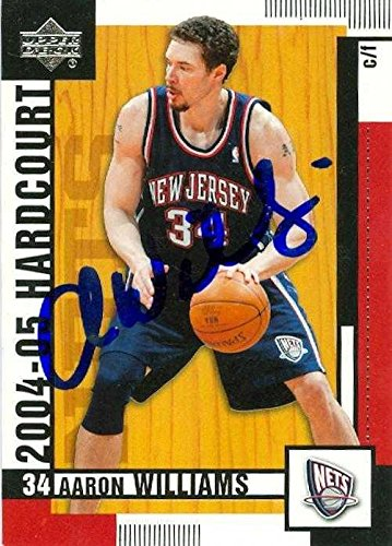 the latest 2f80a 89dcd Aaron Williams autographed Basketball Card (New Jersey Nets ...