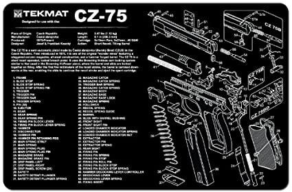TekMat Gun Cleaning Mat for use with CZ 75 on