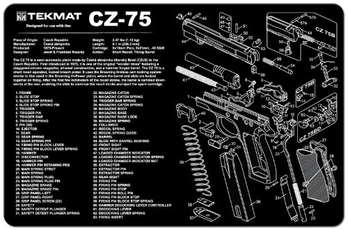 (TekMat Gun Cleaning Mat for use with CZ 75)