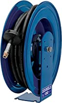 Coxreels E-HPL-130 Spring Rewind Enclosed Cabinet Hose Reel for grease: 1/4