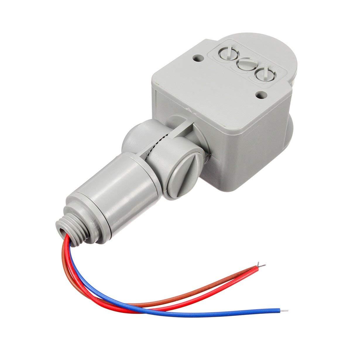 Durable 180 ° rotativo LED al Aire Libre del Interruptor del Sensor ...