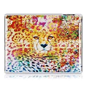 Leopard Patrón de colores de plástico de nuevo caso para el iPad 2/3/4