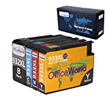 Office World Compatible Ink Cartridge Replacement for HP 932XL 933XL, Compatible with HP