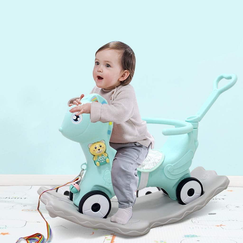 LWTOP Bebé Música plástico del Caballo de oscilación, los niños Juguetes de Montar a Caballo de la Silla/Mecedora/Caballo de balancín de Boy & Girl Edad 1-6 años