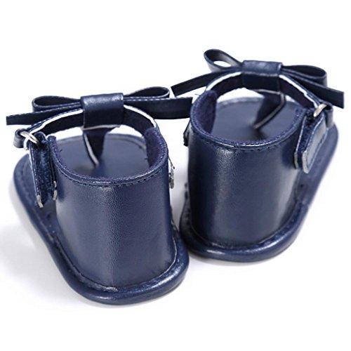 Hunpta Kleinkind Mädchen Krippe Schuhe Neugeborenen Blume weiche Sohle Anti-Rutsch-Baby Sneakers Sandalen Blau
