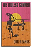 Outer Banks, North Carolina - The Endless Summer - Original Movie Poster (10x15 Wood Wall Sign, Wall Decor Ready to Hang)