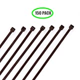 Dark Brown 8 Inch Cable Ties Fastener for Fence in