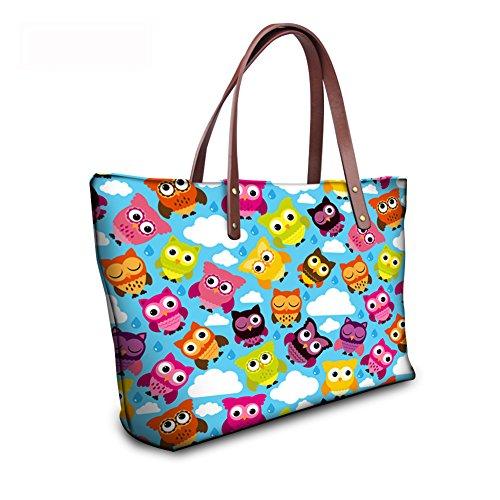 Foldable leather Handle Wallets Purse FancyPrint C8wc2003al Bags Women Handbags Satchel Top a6wqdd5x