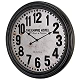 Bulova C4819 Hotelier Wall Clock, 60″, Distressed Black Finish Review