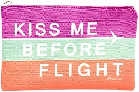 [スカイアートジャパン] トラベルポーチ KISS ME BEFORE FLIGHT マルチ