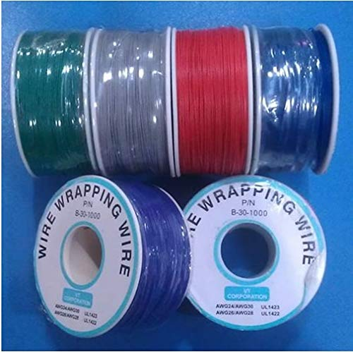 Calvas 0.5mm Single Core Copper/PCB Board Fly line 30# Electronic Wire/About 300M / Roll - (Color: Blue)