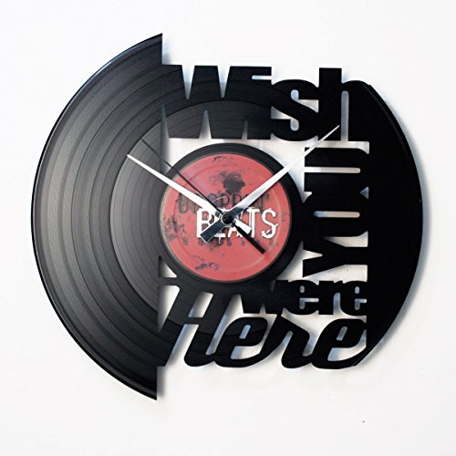 DISC O CLOCK Vinyl Wall Clock Wish You Were Here