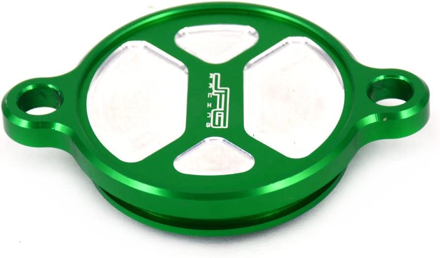 Motorcycle Aluminum Green Billet Engine CNC Oil Filter Cover Cap For Kawasaki KXF250 KX250F