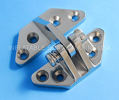 Inflatable Boat & Marine USA Boat Hinge Removable Pin - Hatch Locker - 2-7/8'' - Marine Stainless Steel
