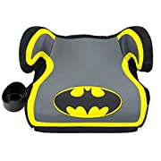 KidsEmbrace Batman Booster Car Seat, DC Comics Youth Backless Seat, Yellow, 4801BAT