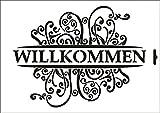 UMR-Design W-629 Willkommen Textil- / wallstencil Size A5