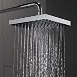 Delta Faucet Single-Spray Touch-Clean Rain Shower Head, Chrome 52841