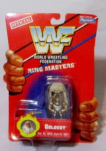 Official WWF 1991 by Playmates GOLDUST Ring Masters miniature action figure RARE by WWF
