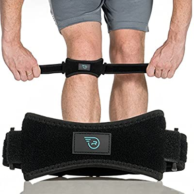 Patella Strap Knee Brace Support for Arthritis, ACL, Running, Basketball, Meniscus Tear, Sports, Athletic. Best Knee Brace for Hiking, Soccer, Volleyball & Squats (1 or 2 Pack)