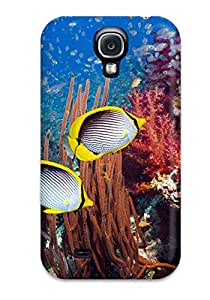Snap-on Fish Case Cover Skin Compatible With Galaxy S4 With Free Screen Protector